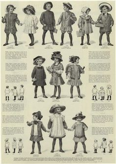 Ladies Home Journal - school clothes for girls and boys, Aug 1910