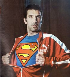 """""""As a little boy I felt like Superman every day (…) If I'm still here it's because I think I had the intelligence to mature, change and overcome the mistakes.""""  Happy Birthday, Gianluigi Buffon aka Superman!"""