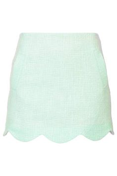 Boucle Scallop Hem Skirt - Skirts  - Clothing