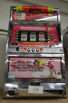 """Pink Panther slot machine, Licensed by MGM/UA, made by Yamasa, 31""""H X 19""""W X 13""""D"""