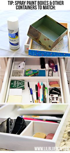 how to make drawer organizers via lilblueboo.com