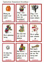 Ganzenbord Sint - opdrachtkaarten