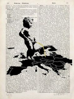 EU MONUMENT  giclee print poster mixed media painting by artretro, $12.00