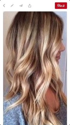 Blonde highlights dirty blonde hair with highlights, blonde balayage long. Hair Color And Cut, Hair Colour, Beach Hair Color, Hair Affair, Great Hair, Pretty Hairstyles, Wedding Hairstyles, 2015 Hairstyles, Celebrity Hairstyles