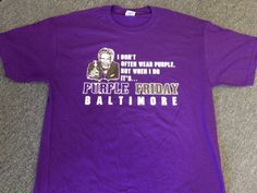 RAVENS PURPLE FRIDAY DOS XX MOST INTERESTING MAN IN THE WORLD T-SHIRT SMALL