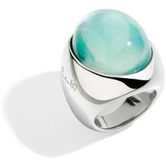 Pomellato67 Ring Pomellato 67 ($740) ❤ liked on Polyvore featuring jewelry, rings, aquamarine, fake jewelry, imitation jewellery, cabochon ring, pomellato and cabochon jewelry