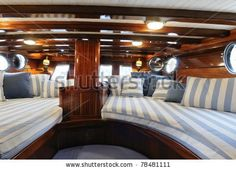 stock photo : yacht sailboat interior http://www.sailboat-interiors.com/ http://www.sailboat-interiors.com/store