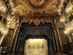 "willkommen-in-germany: ""Das Markgrafliche Opernhaus in Bayreuth, Bavaria is a Baroque opera house, built in the - one of Europe's few surviving theaters of the period. Princess Wilhelmine of Prussia (the older sister of Frederick the Great),."