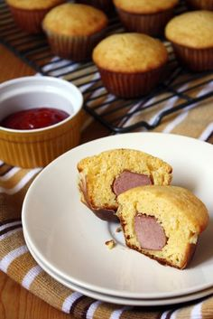 Where we come from... it's Corn Dog Muffins for our next party app: