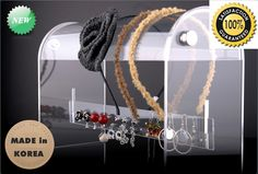 100%Handmade in Korea Acrylic Clear Designed HAIRBANDS HOLDERS  -US $48.70