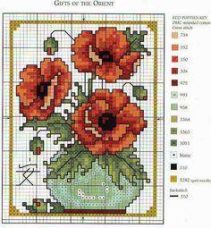 3 υπέροχα σχέδια για σταυροβελονιά / 3 lovely cross stitch patterns     Lesley Teare                            πηγή /  source     Είναι ι...
