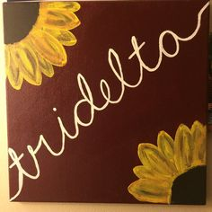 Tridelta Sunflower Canvas by Canvasesbysharon on Etsy