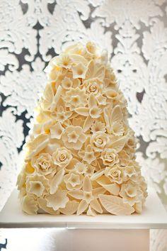 White Chocolate Flower Bombe