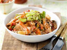 Wok Recipes, Chicken Salad Recipes, Asian Recipes, Dinner Recipes, Cooking Recipes, Ethnic Recipes, Good Food, Yummy Food, Good Healthy Recipes