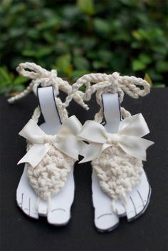@Carleigh Boyd Guzman these are cute. great gift ideas for your new cousins Baby Barefoot Sandals Girl stylish foot wear for by HappyThreads1, $14.00; i am pretty sure Adele needs these!!!