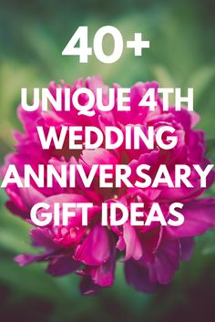 4th Anniversary Gift Ideas | Anniversary gifts, Anniversaries and Gift