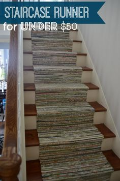 Brilliant Ideas Rugs As Stair Runner With The Best Tutorial Iu0027ve Ever Seen  On