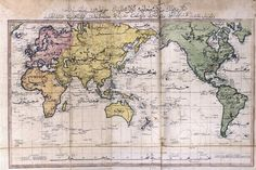 A map of the world as seen by the Ottoman Empire in 1803. | 18 Maps That Will Change How You See The World