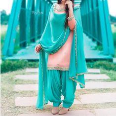 Punjabi suit's my choice my style Punjabi Salwar Suits, Designer Punjabi Suits, Punjabi Dress, Indian Designer Wear, Indian Suits, Indian Dresses, Indian Wear, Patiala Suit Designs, Salwar Designs