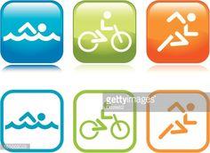 ベクトルアート : Triathlon Icons