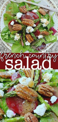 Take a virtual trip to the French countryside with this French Salad. Also learn a shortcut to making French salad dressing. | Foodtastic Mom #frenchsalad #saladrecipes