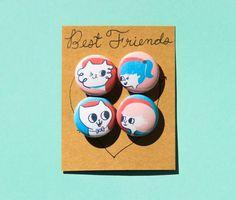 Best Friends FUREVER / Cat Pins / Best by bethspencerdesign