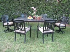 "CBM Heaven Collection Outdoor Patio Furniture Dining Set with 2 Swivel Chairs CBM1290 by Dining Set. $1599.00. http://www.amazon.com/gp/search/ref=sr_nr_p_4_0?me=A3FFZBD7736VOW=p_4%3ADining+Set=UTF8=1300656824. IF YOU HAVE ANY QUESTIONS PLEASE CLICK ON (cbm1290) THEN (return policy). Features: 4 arm chairs & 2 Swivel Arm Chair 6 free Cushions and 1 table.Chairs dimensions: 25""L x 22"" W x 37"" H. Chair weight: 13 lbs.. If you like to see more Dining Set please Copy t..."