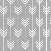 Renters Wallpaper! arrows_light_grey - holli_zollinger - Spoonflower