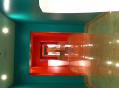 Hallway with different colored walls! At Canyon Ranch Las Vegas, so awesome