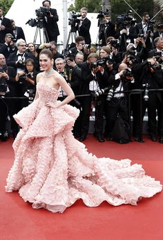 Cannes Red Carpet 2016Araya Hargate in a Ralph & Russo gown and Chopard jewels  StyleCaster