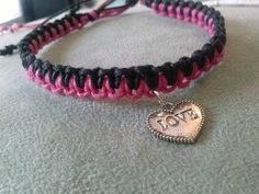 Double Knot Heart Bracelet by kraftychik on Etsy