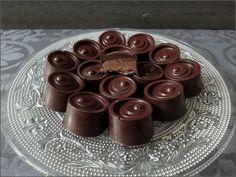 Bonbon chocolat fourré à l'orange confite et au pralin