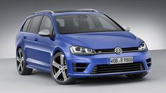 Volkswagen presented the Golf R Variant which will debut in the Los Angeles auto show. The Variant version of the Golf R is practically the same as the standard, hatchback version, regarding the engine. Volkswagen Golf Variant, Vw Golf Variant, Volkswagen Golf R, Volkswagen Models, Volkswagen Beetles, Vw Golf R, Wagon Cars, Dual Clutch Transmission, Horses