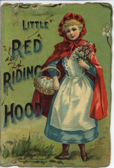 LITTLE RED RIDING HOOD advertising booklet Little Red Riding, Little Red Ridding Hood, Red Riding Hood, Vintage Children's Books, Antique Books, Vintage Ephemera, Illustrations, Book Illustration, Wolf
