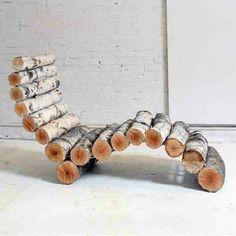 Awesome wood log chase lounge