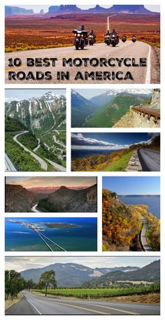 The 10 best motorcycle roads in America. #RideOn #CycleCrunch