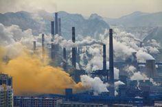 Shocking pollution Benxi Steel Industries. (Image: Google)