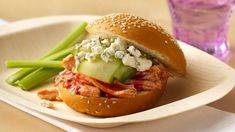Slow-Cooker Buffalo Chicken Sandwiches