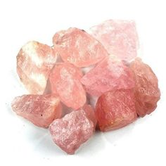 Crystal Allies Materials: 1lb Bulk Rough Pink Rose Quartz Crystals from Brazil - #CrystalAlliesMaterials