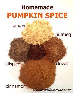 homemade diy pumpkin pie spice