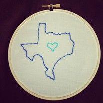 """Texas 5"""" State Hoop Art"""