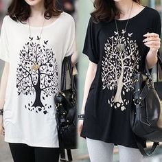 Buy 'Rocho – Tree Print T-Shirt' with Free International Shipping at YesStyle.com. Browse and shop for thousands of Asian fashion items from China and more!