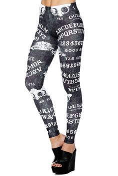 Ouija Board Black MF Leggings - 48HR (AU $75AUD) by BlackMilk Clothing