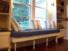 TX - A better shot of the window seat and shelves we built...