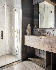 Pearson Design Group designed this rustic-modern mountain dwelling, nestled among the surrounding mountain slopes of Big Sky Country, Montana. The White Company, Elle Decor, Chalet Modern, Cabin Bathrooms, Luxury Bathrooms, Interior Architecture, Interior Design, Big Sky Country, Mountain Modern