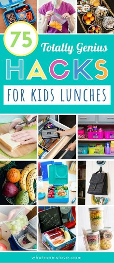Amazing lunch box hacks & ideas that make packing your kids' school lunches a breeze. Tips & tricks to get organized for back to school with meal prep & more. Kids Lunch For School, Healthy School Lunches, Kid Lunches, Lunch Snacks, Planners, Breakfast Crockpot Recipes, Dinner Recipes, Meal Prep For The Week, Kids Meals
