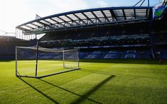 Download wallpapers Stamford Bridge, Chelsea FC, football stadium, field, football lawn, bleachers, sports arenas, London, England