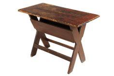 Early painted sawbuck table.  Google.com