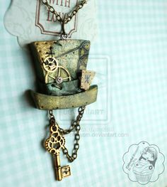 Steampunk style Mad Hatter Necklace