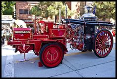 The fire department drove this steam-powered engine to the Car Classic show —  Downtown Burbank. Via my friend, Christian
